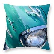 1957 Oldsmobile 98 Starfire Convertible Fender Spear Throw Pillow