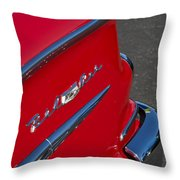 1958 Chevrolet Belair Emblem 2 Throw Pillow