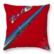 1958 Chevrolet Belair Emblem Throw Pillow
