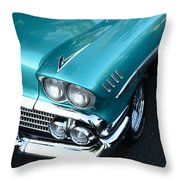 1958 Chevy Belair Front End 01 Throw Pillow
