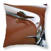 1958 Chrysler Imperial Hood Ornament Throw Pillow