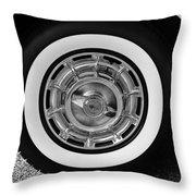 1958 Corvette White Walls Throw Pillow