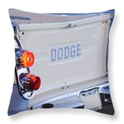 1958 Dodge Sweptside Pickup Taillight Throw Pillow