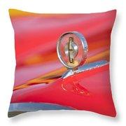 1958 Edsel Roundup Hood Ornament Throw Pillow