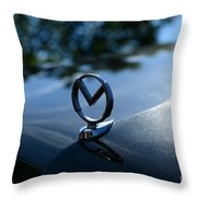 1958 Mercury Park Lane Hood Ornament Throw Pillow