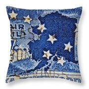 1959 Alaska Statehood Stamp Throw Pillow