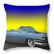 1959 Cadillac Convertible Eldorado Biarritz Throw Pillow