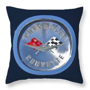 1959 Chevrolet Corvette Emblem Throw Pillow
