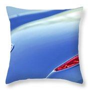 1959 Chevrolet Corvette Taillight Emblem Throw Pillow