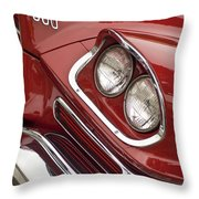 1959 Chrysler 300 Headlight Throw Pillow