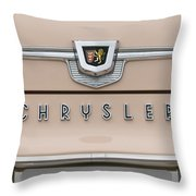 1959 Chrysler New Yorker Emblem Throw Pillow