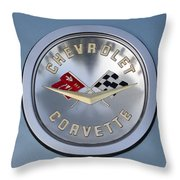 1959 Corvette Emblem Throw Pillow