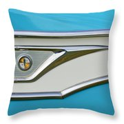1959 Edsel Corvair Side Emblem Throw Pillow