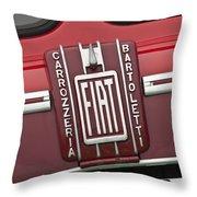 1959 Fiat Tipo 682 Rn-2 Transporter Emblem Throw Pillow