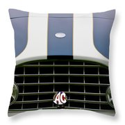 1960 Ac Ace Roadster Grille Emblem Throw Pillow