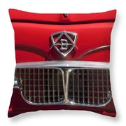 1960 Autobianchi Bianchina Transformabile Coupe Hood Emblem Throw Pillow