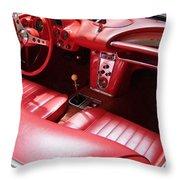 1960 Chevrolet Corvette Interior Throw Pillow