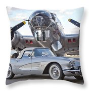 1960 Chevrolet Corvette Throw Pillow