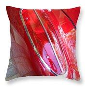 1960 Chevrolet Corvette Tail Light Throw Pillow