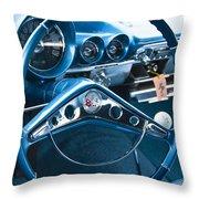 1960 Chevrolet Impala Steering Wheel Throw Pillow