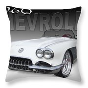 1960 Corvette Throw Pillow by Mike McGlothlen