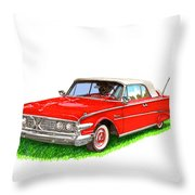 1960 Edsel Ranger Convertible Throw Pillow
