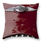1960 Morgan Plus Four Drophead Coupe Hood Emblem Throw Pillow