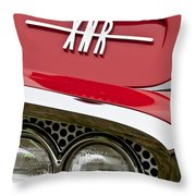 1960 Plymouth Xnr Ghia Roadster Grille Emblem Throw Pillow