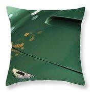 1961 Aston Martin Db4 Series Iv Hood Emblem Throw Pillow