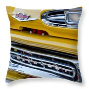 1961 Chevrolet Front End Throw Pillow