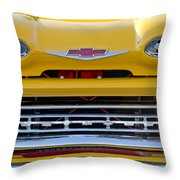 1961 Chevrolet Grille Emblem Throw Pillow