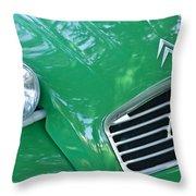 1961 Citroen 2cv Landaulet Hood Emblem Throw Pillow