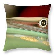 1961 Ford Galaxie Convertible Hood Ornament Throw Pillow