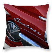 1961 Ford Galaxie Sunliner Convertible Throw Pillow