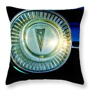 1961 Pontiac Catalina Steering Wheel Emblem Throw Pillow