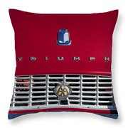1961 Triumph Tr3a Roadster Grille Emblem Throw Pillow