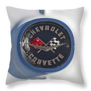 1962 Chevrolet Corvette Emblem 4 Throw Pillow