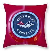 1962 Chevrolet Corvette Emblem Throw Pillow