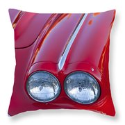 1962 Chevrolet Corvette Headlight Throw Pillow