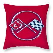 1962 Chevrolet Corvette Hood Emblem 2 Throw Pillow
