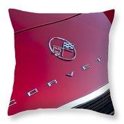 1962 Chevrolet Corvette Hood Emblem 3 Throw Pillow