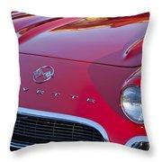 1962 Chevrolet Corvette Hood Throw Pillow