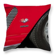 1962 Chevrolet Corvette Wheel Throw Pillow