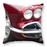 1962 Corvette Throw Pillow