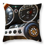 1962 Jaguar Throw Pillow