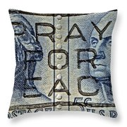 1962 Pray For Peace Stamp Collage Throw Pillow