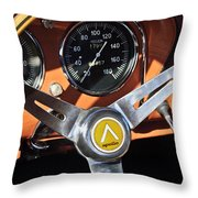 1963 Apollo Steering Wheel 2 Throw Pillow by Jill Reger