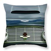 1963 Aston Martin Db4 Series V Vantage Gt Grille Throw Pillow by Jill Reger