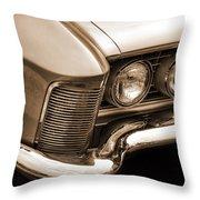 1963 Buick Riviera Sepia Throw Pillow