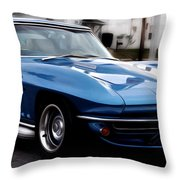 1963 Corvette Throw Pillow